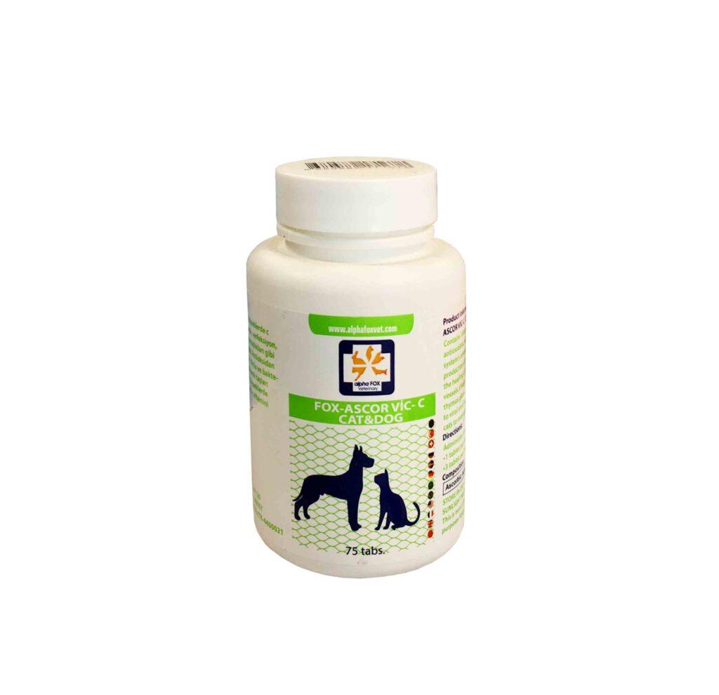 قرص مکمل ویتامین C سگ و گربه