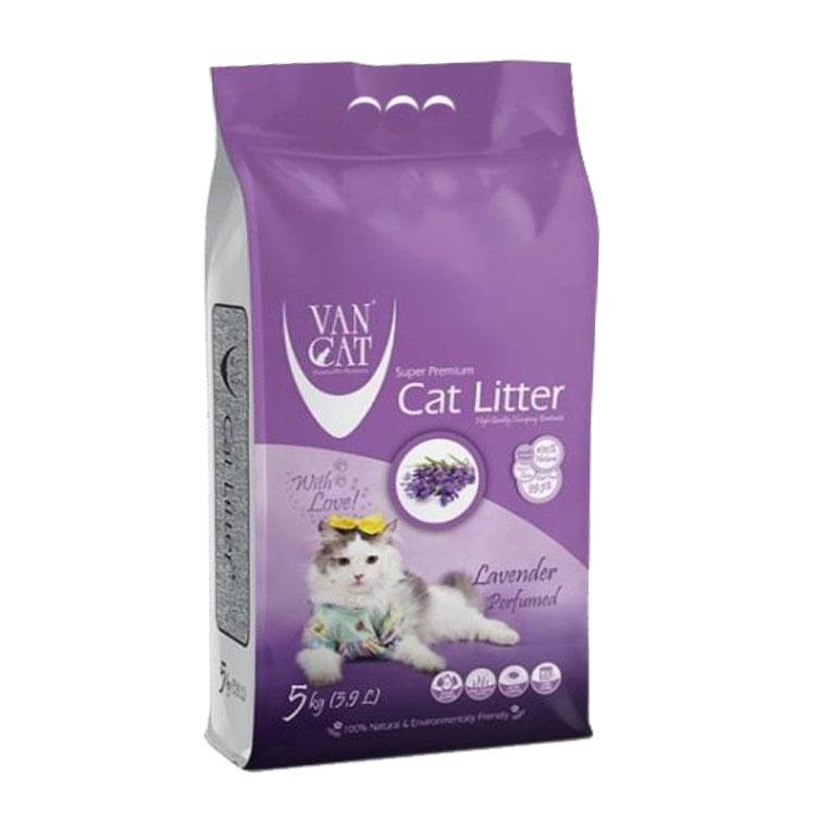 خاک مخصوص گربه ون کت با رایحه لاوندر 5kg VanCat
