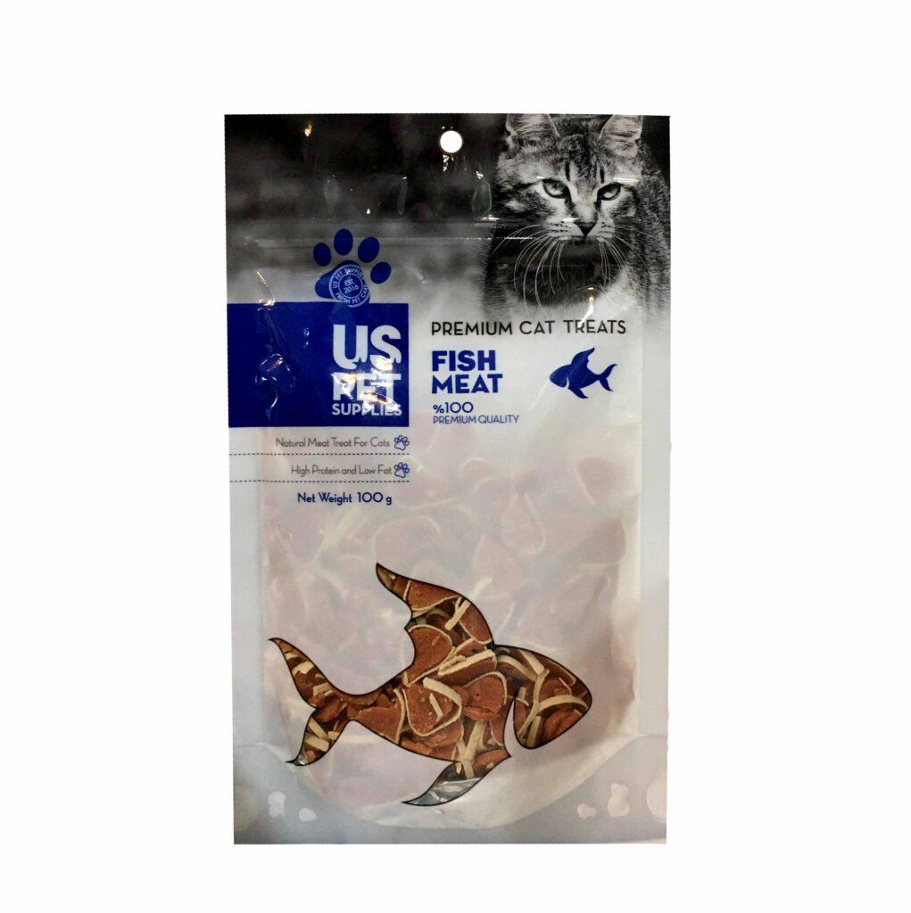 تشویقی مخصوص گربه طعم ماهی سالمون USPET