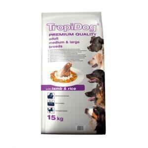 غذا خشک سگ بره و برنج tropidog