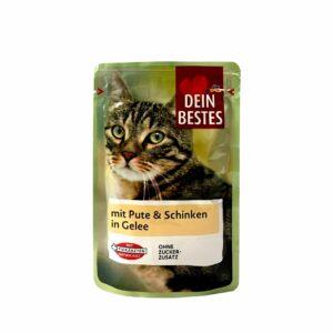 سوپ گربه طعم گوشت بوقلمون و ژامبون DEIN BESTES