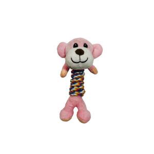 عروسک دندونی سگ و گربه طرح میمون lovabledog