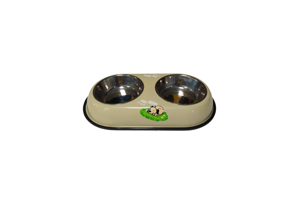 ظرف آب و غذا دو طرفه سگ و گربه استیل