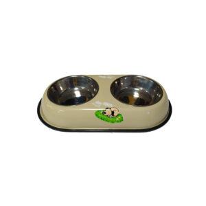 ظرف آب و غذا دوطرفه سگ و گربه استیل