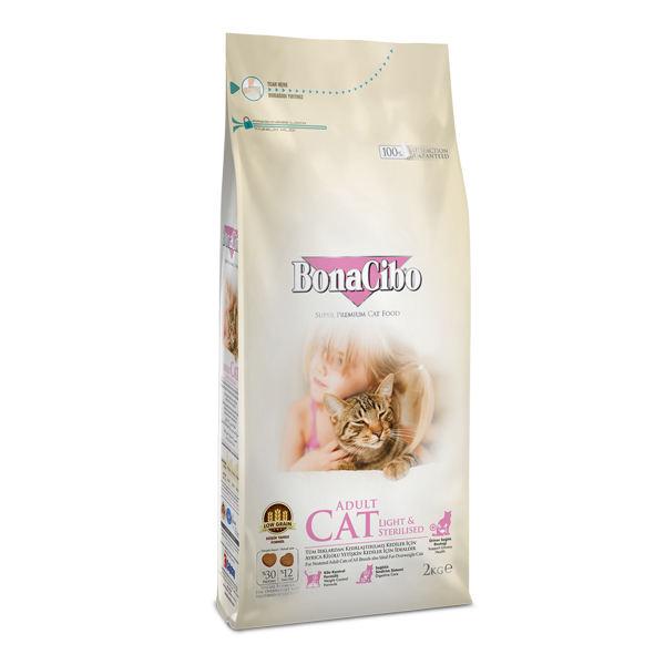غذا خشک گربه بالغ عقیم شده یا چاق بوناسیبو 2kg Bonacibo