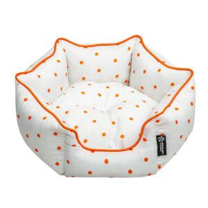 جا خواب سگ و گربه شش ضلعی طرح خال خالی Sevil pet